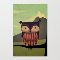 yetiland Canvas Prints featuring Owl by Yetiland