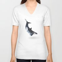 killer whale V-neck T-shirts featuring Killer Whale by The animals moved to - society6.com/dian