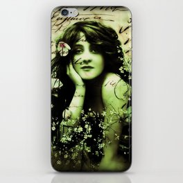 All Women Have Secrets -print of a mixed media collage romantic victorian iPhone Skin