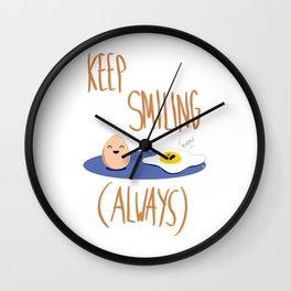 KEEP SMILING (ALWAYS) Wall Clock