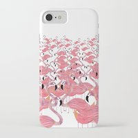 flamingos iPhone & iPod Cases featuring Flamingos by Lydia Coventry