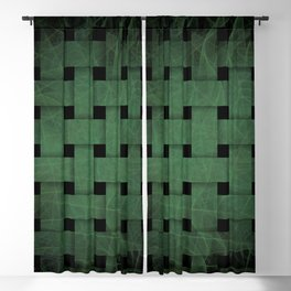 Green Weave Blackout Curtain