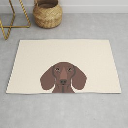 Piper - Dachshund, weener dog, wiener dog, pet portrait, sausage dog, pet Rug