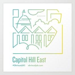 ObviouslyDC-Capitol Hill East Art Print