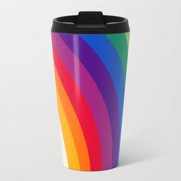 Groovy - rainbow 70s 1970s style retro throwback minimal happy hippie art decor Travel Mug