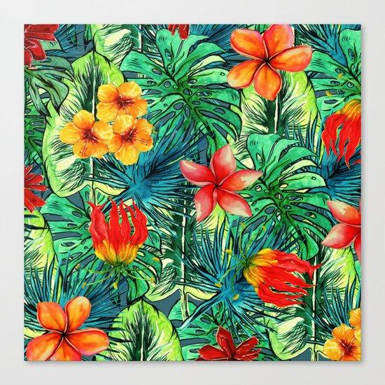 My Tropical Garden Canvas Print