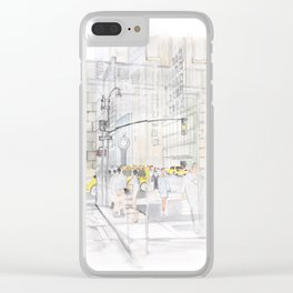 The reflection of a big city Clear iPhone Case