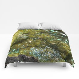Geode Abstract Citrine Comforters