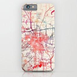 Jackson map Michigan MI iPhone Case