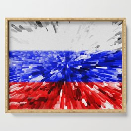 Extruded Flag of Russia Serving Tray