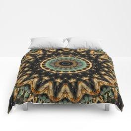 Mandala black 2 Comforters