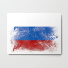 Russia flag isolated Metal Print