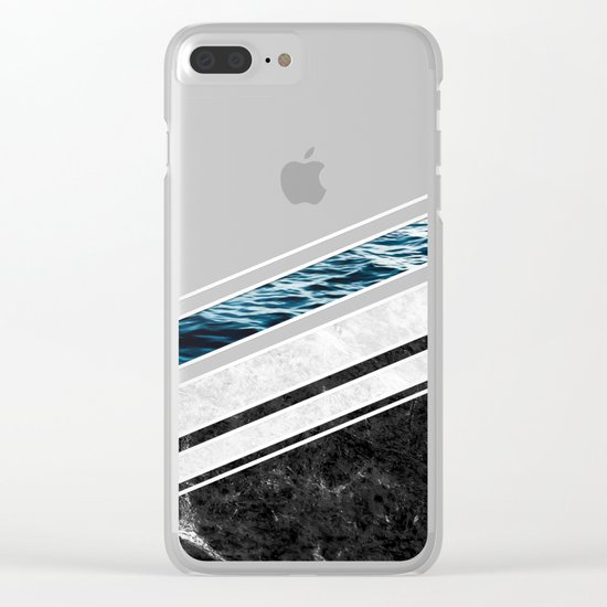 Striped Materials of Nature I Clear iPhone Case