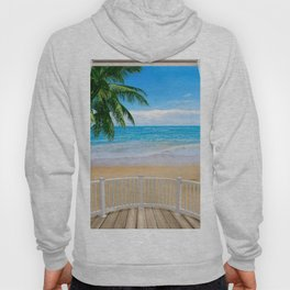 Balcony with a Beach Ocean View Hoody