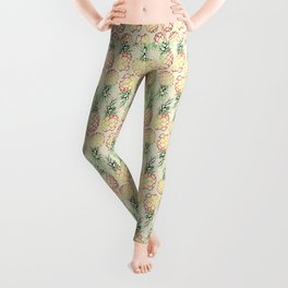 Burlap Pineapples Leggings