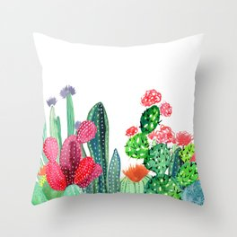 A Prickly Bunch 4 Throw Pillow