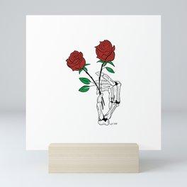 Skull Rose Mini Art Print