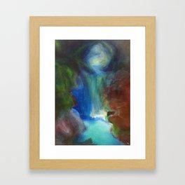 The Kissing Cave Framed Art Print