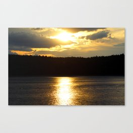 Sunset at Concord's Walden Pond 7 Canvas Print