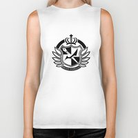 dangan ronpa Biker Tanks featuring Dangan Ronpa High School logo  by Prince Of Darkness