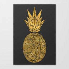 Bullion Rays Pineapple Canvas Print