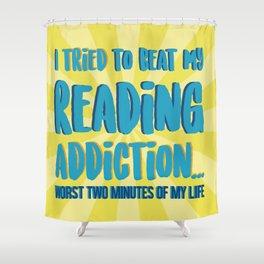 Reading Addiction Shower Curtain