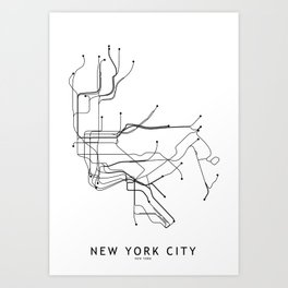 Manhattan Mta Mini Subway Map And Address Finder.Mta Art Prints Society6