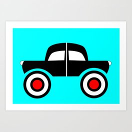 Black Car Two Directions Art Print