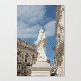 Statue of St. Peter Ortigia Syracuse Canvas Print