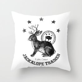 5 star certified jackalope trainer Throw Pillow