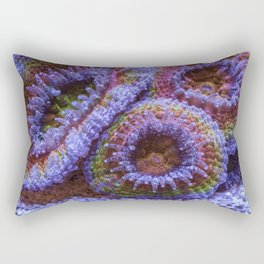 Coral Acanthastrea Lordhowensis Rainbow Rectangular Pillow