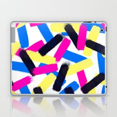 Modern bright abstract brushstrokes paint pattern Laptop & iPad Skin