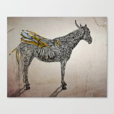 Feather Horse  Canvas Print