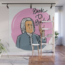 Back to Bach (pink background) Wall Mural