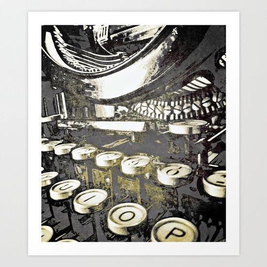 speed test {gray Art Print