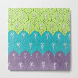 Leaves upon Leaves pattern Metal Print
