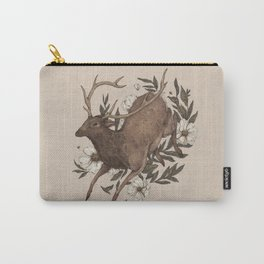 Floral Elk Carry-All Pouch