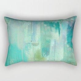 Aqua Circumstance Rectangular Pillow
