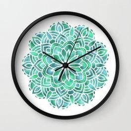Mandala Southwest Succulent Wall Clock