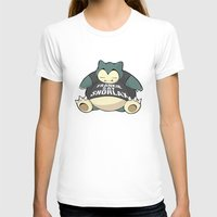 snorlax T-shirts featuring Frankie Say Snorlax by The Geekerie
