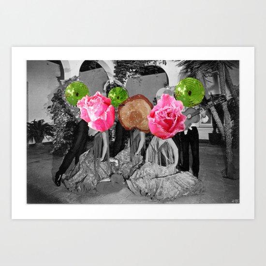 Flamenco Florales Art Print