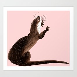 Asian small-clawed otter Art Print