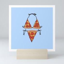 Pizza Bikini Mini Art Print
