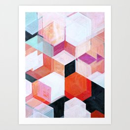 White Paint and Some Colors Art Print
