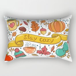 Stay Cozy in Autumn Rectangular Pillow