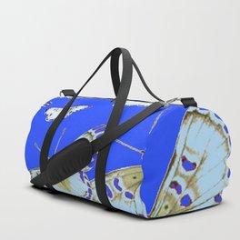 PATTERN OF BLUE & WHITE BUTTERFLIES MODERN ART Duffle Bag