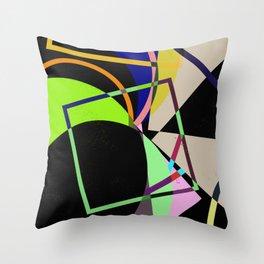 Retro Pastel X - Abstract, geometric, scandinavian pattern artwork Throw Pillow