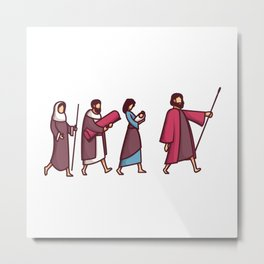 Journey of the Family of Jesus Metal Print