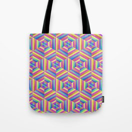 Kaleidoscope Hex Tote Bag