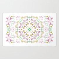 tye dye Art Prints featuring Kaleidoscope Tye Dye  by Skrinkladado